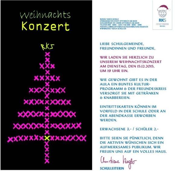 rudolf-koch-schule - gymnasium der stadt offenbach - archiv, Einladung